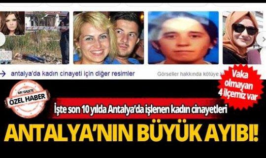 İşte son 10 yılda Antalya'da işlenen 82 kadın cinayetinin failleri ve yöntemleri