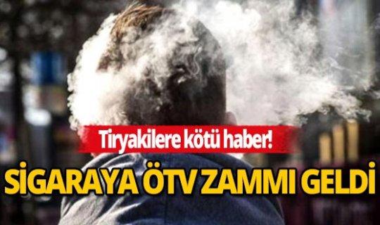 Sigaraya ÖTV zammı geldi