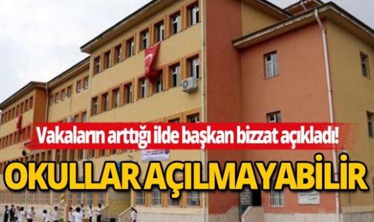 Vakaların hızla arttığı kentte belediye başkanından okul açıklaması!