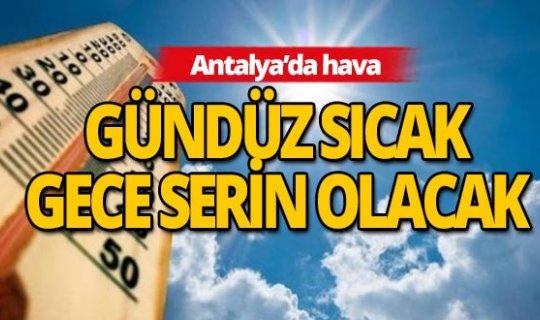 27 Ağustos'ta Antalya'da hava durumu