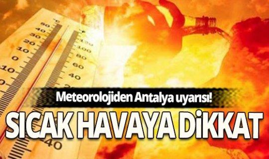 28  Ağustos'ta Antalya'da hava durumu