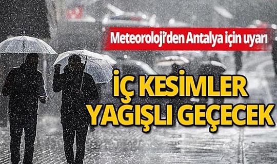 3 Ağustos 2020 Pazartesi günü Antalya'da hava nasıl olacak?