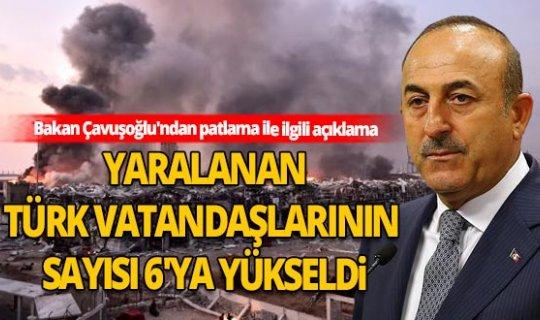 Bakan Mevlüt Çavuşoğlu'ndan patlama ile ilgili açıklama