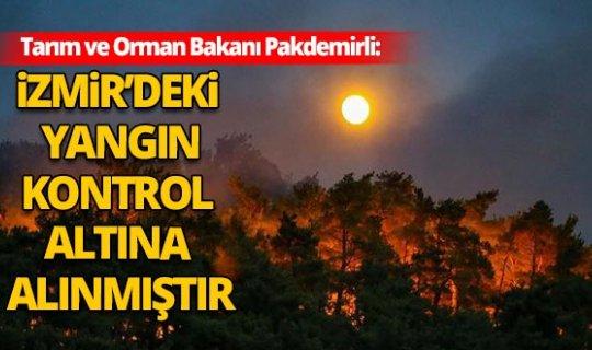 Bakan Pakdemirli'den İzmir'deki yangın ile ilgili açıklama!