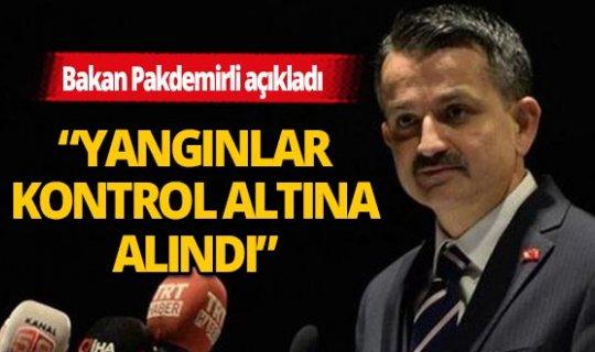 Bakan Pakdemirli'den İzmir, Uşak, Denizli ve Bursa'daki orman yangınlarına ilişkin açıklama