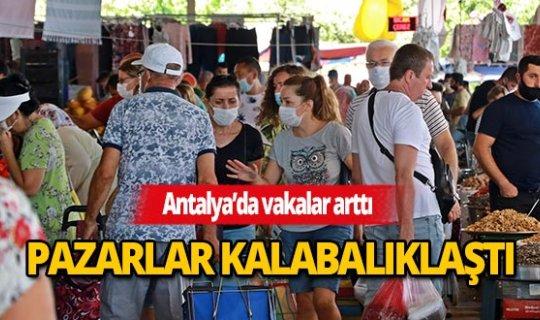 Son dakika Antalya haberi: Kapalı pazarda 'yok artık' dedirtecek görüntüler