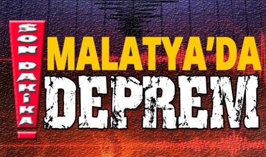 Son dakika: Malatya'da 5.2 şiddetinde deprem