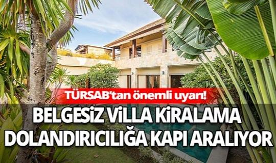 Türkiye Seyahat Acentaları Birliği'nden önemli uyarı!