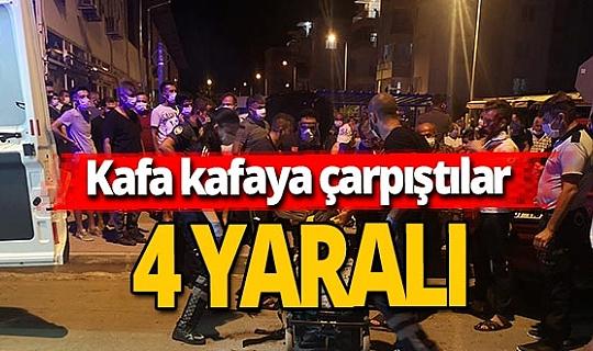 Antalya haber: İki otomobil çarpıştı, 4 yaralı