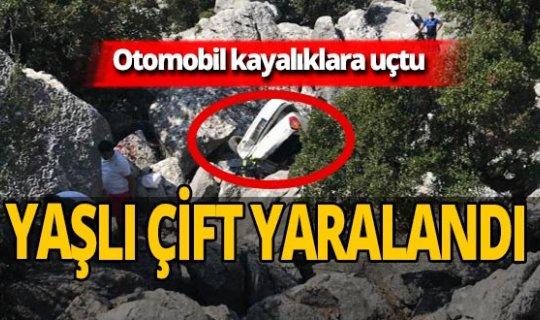 Antalya haber: Otomobil kayalıklara uçtu! Yaralılar var
