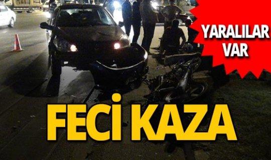 Antalya haber: Otomobille motosiklet çarpıştı! Yaralılar var