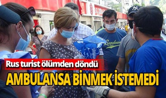 Antalya Haber: Rus turist ölümden döndü