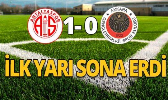 Antalyaspor - Gençlerbirliği ilk yarı sona erdi