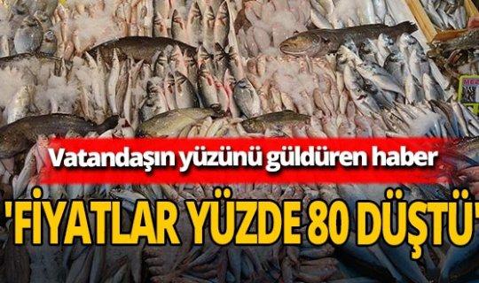 Balık fiyatları yüzde 80 düştü
