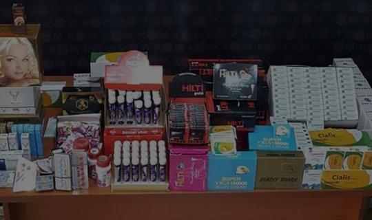 Cinsel içerikli kaçak ürünler ele geçirildi