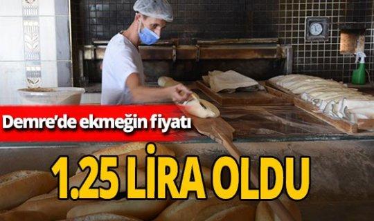 Ekmeğin fiyatı 1.25 lira oldu