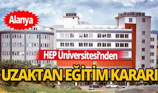 HEP'ten uzaktan eğitim kararı
