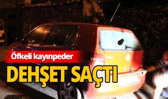 Kayınpeder, tartıştığı damadının otomobiline kurşun yağdırdı