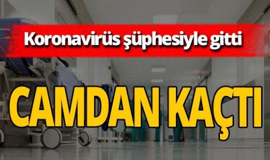 Koronavirüs şüphesiyle gittiği hastaneden kaçtı