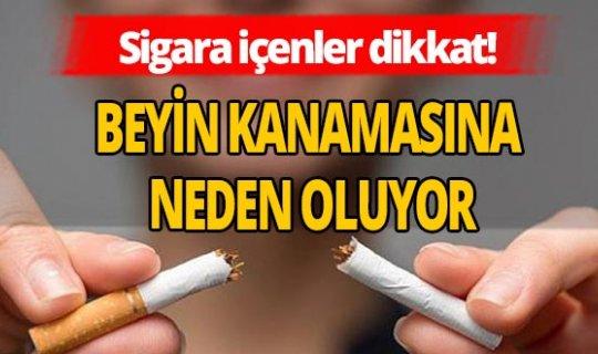 Sigara beyin kanamasına davetiye çıkarıyor