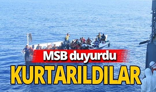 Son dakika! MSB Duyurdu:  37 kişi kurtarıldı