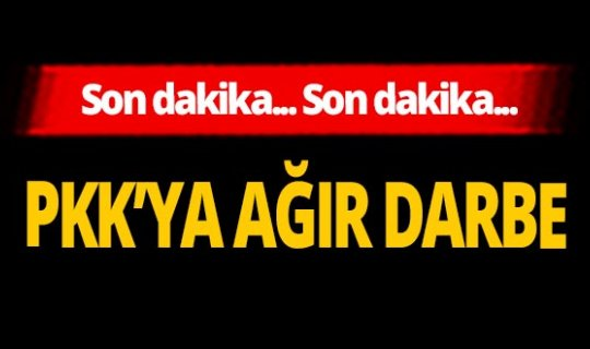 Son dakika... PKK'ya çok ağır darbe