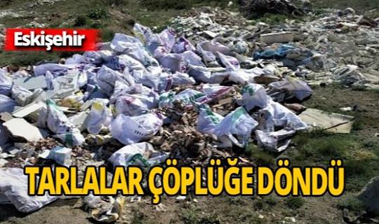 Tarlaları çöplüğe çevirdiler