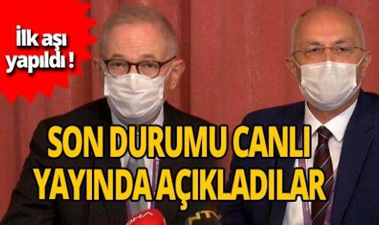 Türkiye'deki ilk aşı çalışmalarıyla ilgili flaş açıklamalar