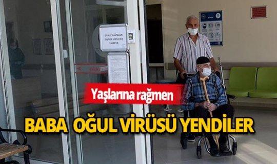 Yaşlı baba oğul virüsü yendi