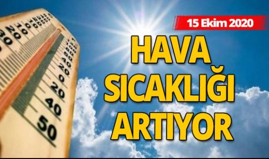15 Ekim 2020 Antalya'da hava durumu