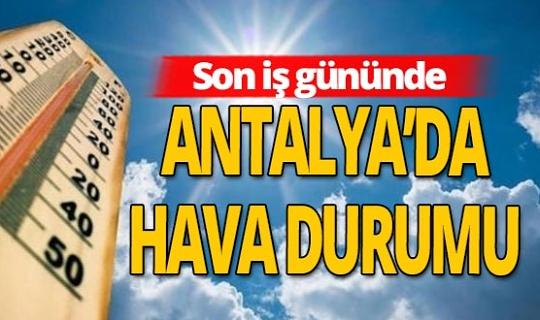 16 Ekim 2020 Antalya'da hava durumu