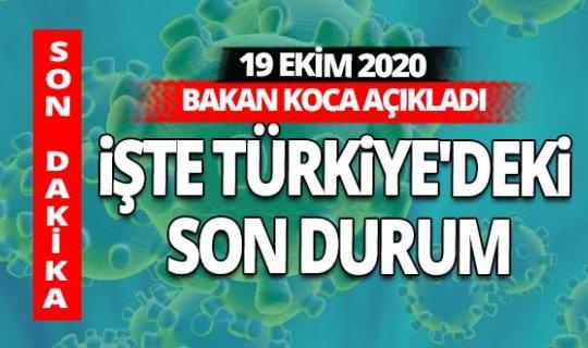 18 Eylül 2020 Türkiye'nin koronavirüs tablosu