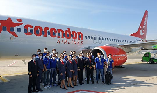 Anadolu Efes'i Corendon Airlines uçuruyor