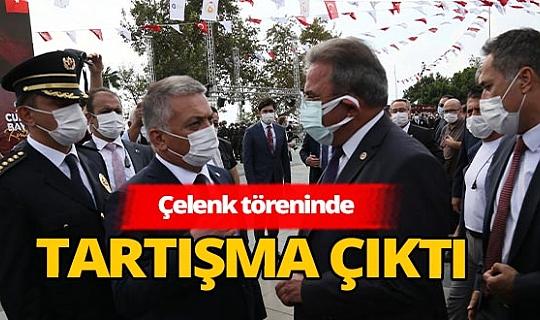 Antalya'da çelenk sunma polemiği