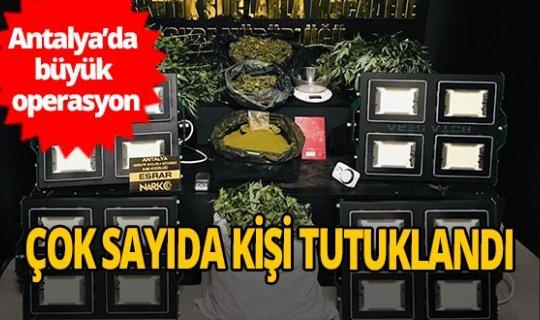 Antalya'da uyuşturucu satıcılarına büyük darbe
