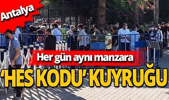 Antalya haber: 'Hes kodu' sırasında sosyal mesafe hiçe sayılıyor