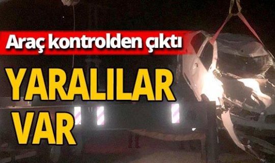 Antalya haber: Otomobil şarampole yuvarlandı: 2 yaralı
