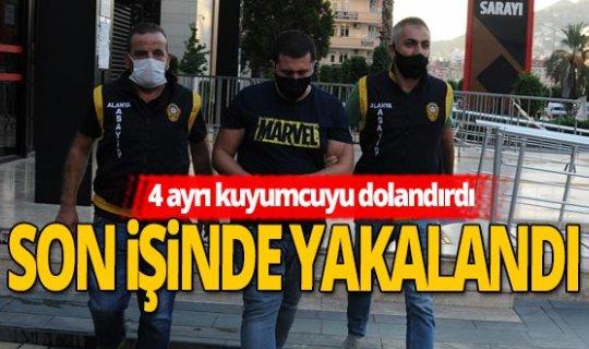 Antalya haber: Sahte altın satarken yakalandı
