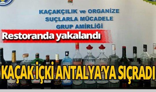Antalya haber: Şişelerce kaçak içki yakalandı