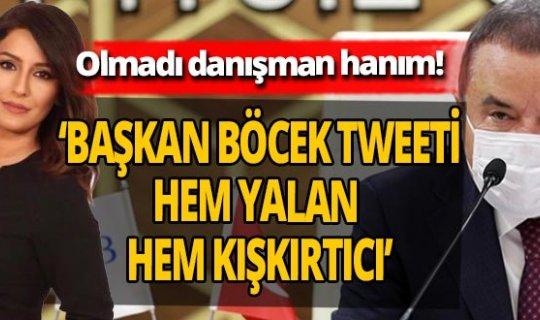 Başkan Böcek'in basın danışmanına tepki yağdı