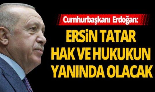 Cumhurbaşkanı Erdoğan'dan, mevkidaşı Tatar'a kutlama!