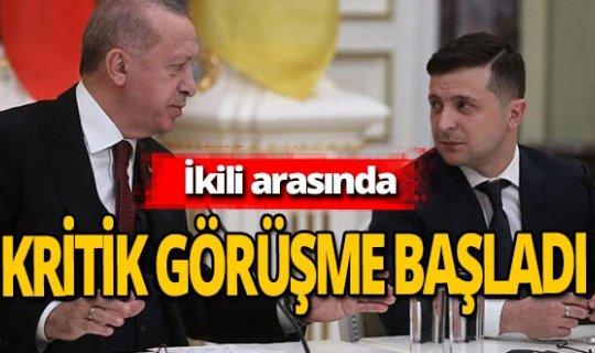Cumhurbaşkanı Recep Tayyip Erdoğan ve Volodimir Zelenski görüşmesi başladı