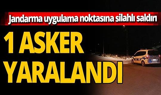 Hatay'da jandarma uygulama noktasına silahlı saldırı: 1 asker yaralı