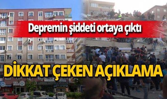 İzmir'deki depremin şiddetini ortaya çıkaran görüntü