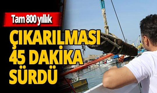 Karadeniz'in dibinden çıkan 800 kiloluk müthiş keşif