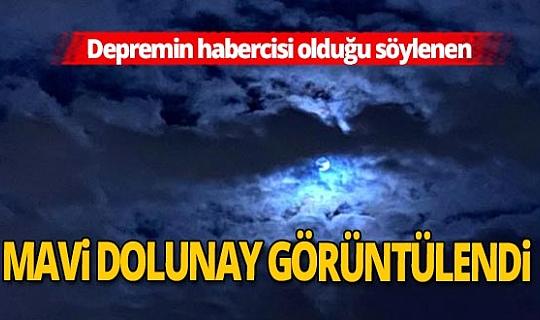 Korkutan Mavi Dolunay İstanbul'da görüntülendi