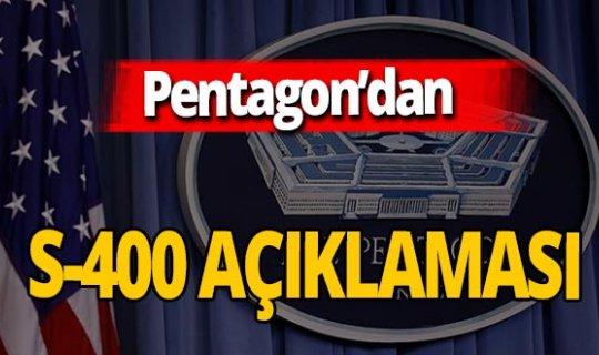 Pentagon'dan S-400 açıklaması! Hoffman: 'Aktif hale getirmemeli'