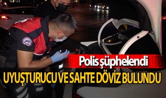 Polisten kaçamadılar; uyuşturucu ve sahte döviz ile yakalandılar