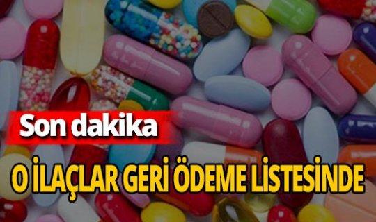 Son Dakika: 65 ilaç daha geri ödeme listesinde!