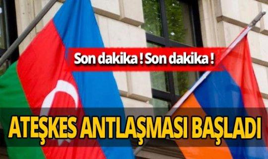 SON DAKİKA! Azerbaycan ile Ermenistan arasındaki ateşkes başladı